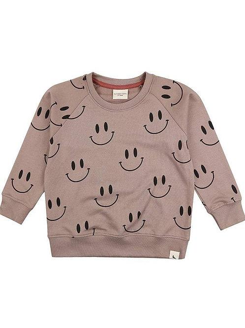 Turtle Dove Organic Smiley Baby Sweatshirt