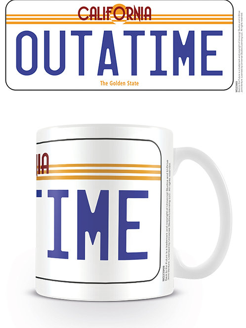 Back To The Future OUTATIME License Plate Mug