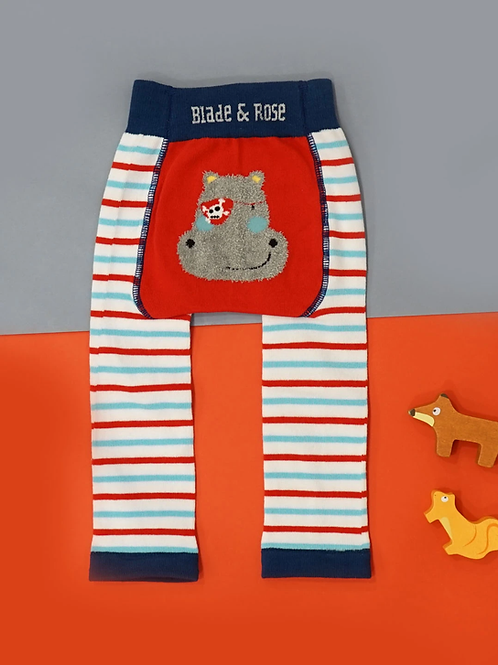 Harry The Hippo Blade and Rose Baby Leggings
