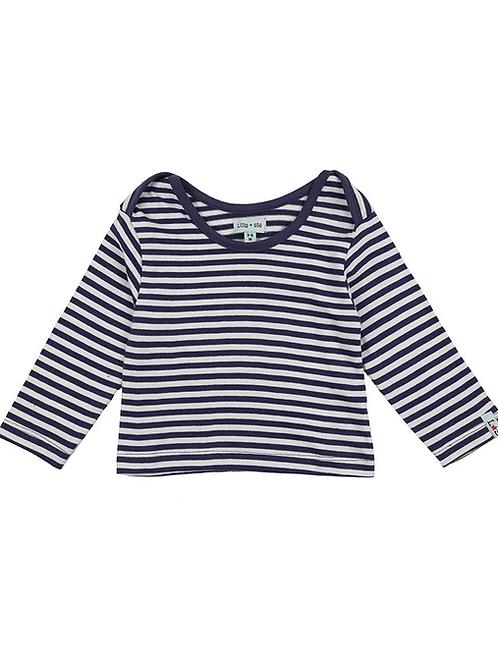 Lilly & Sid Organic Stripe Baby Top