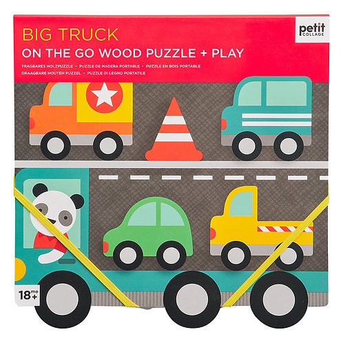 Petit Collage Big Truck Chunky Wood Puzzle