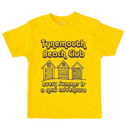 Tynemouth Kids Tee (Beach Huts)