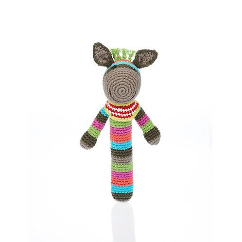 Donkey Stick Rattle Toy by Pebble Child