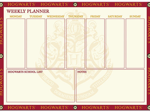 Harry Potter Weekly Planner Desk Pad