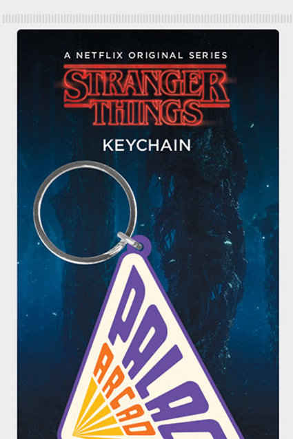 Stranger Things Palace Arcade Rubber Keyring
