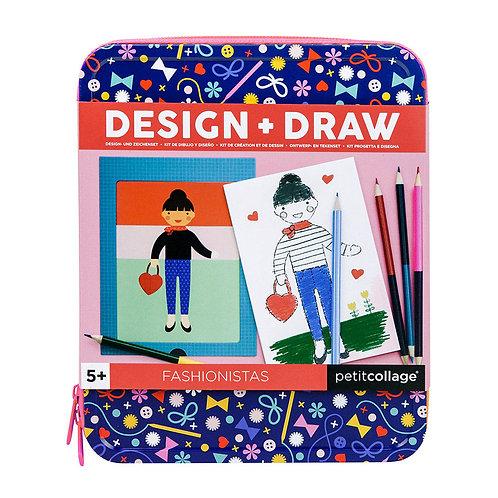 Petit Collage Fashionistas Design & Draw Set