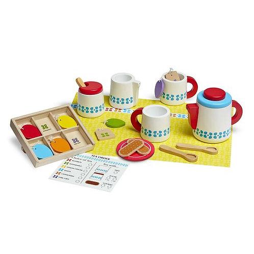 Melissa & Doug Wooden Tea Set