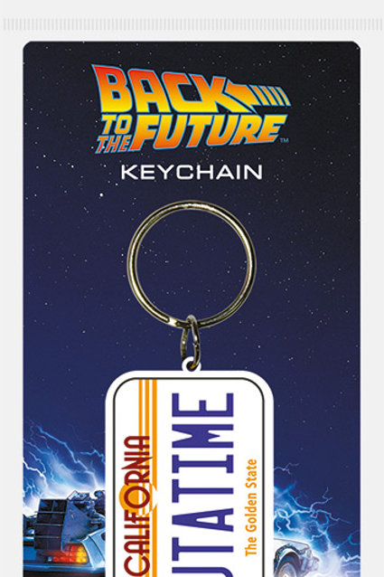 Back To The Future Outatime Rubber Keyring