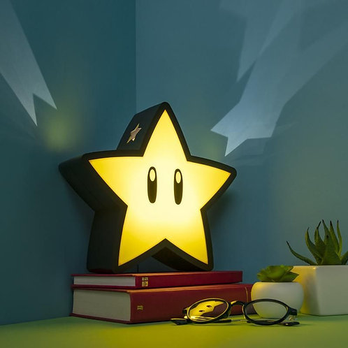 Mario Super Star Light With Projection