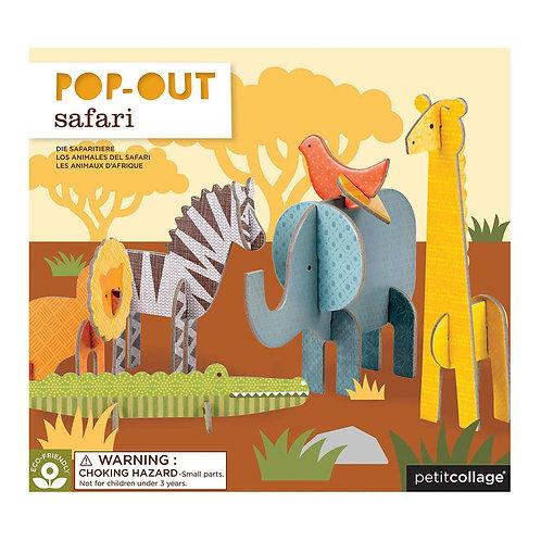 Petit Collage Pop-Out Safari Play Set