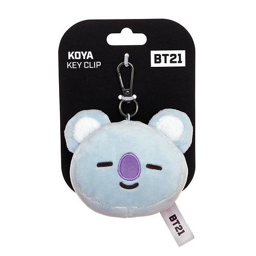 BT21, KOYA Plush Key Clip, 3.5In