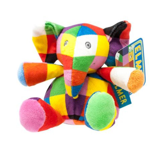 Elmer Rattle Soft Toy