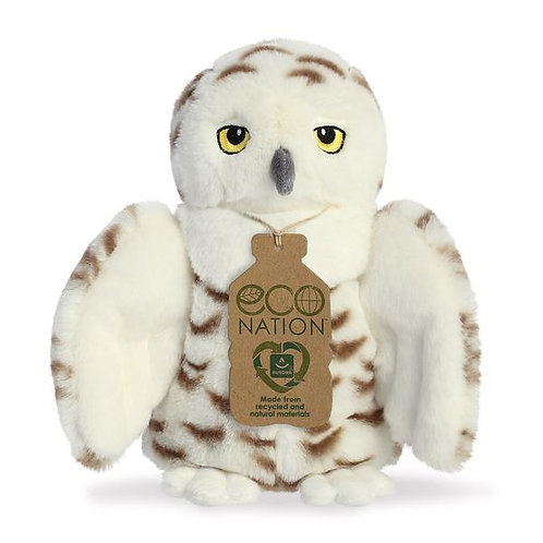 Eco Nation Snowy Owl Soft Toy