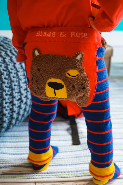 Big Brown Bear Blade and Rose Baby Leggings