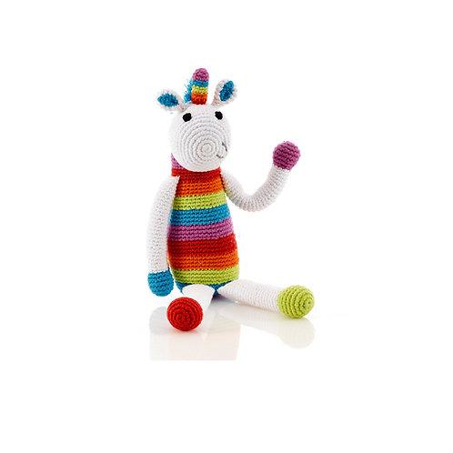 Rainbow Unicorn Toy by Pebble Child