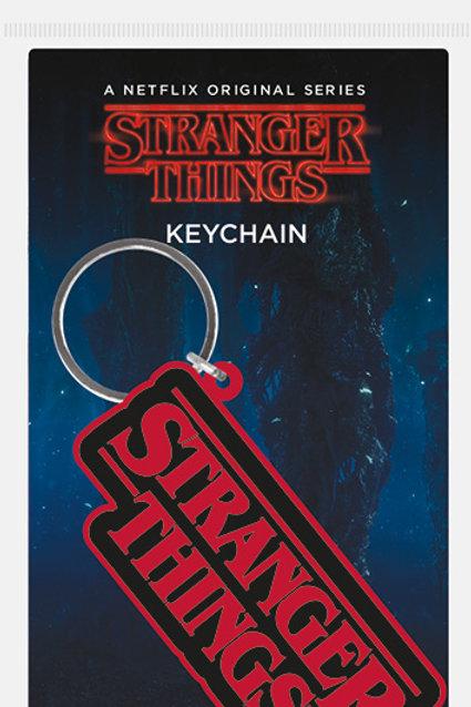 Stranger Things Logo Rubber Keyring