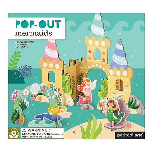 Petit Collage Pop-Out Mermaids Play Set