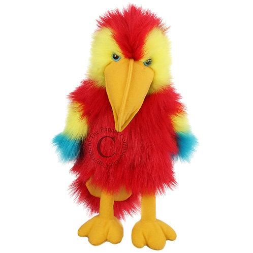 Baby Bird Scarlet Macaw Hand Puppet