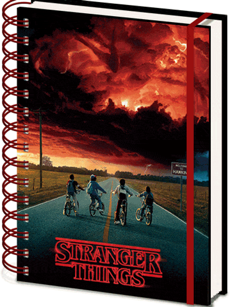 Stranger Things Mind Flayer 3D Cover A5 Wiro Notebook