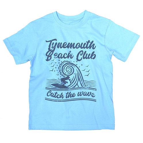 Local Hero  Tynemouth Beach Club Catch The Wave Kids Tee