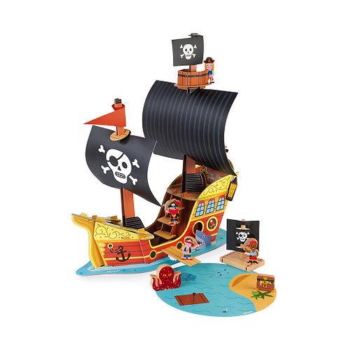 Janod Wooden Pirate Ship Set