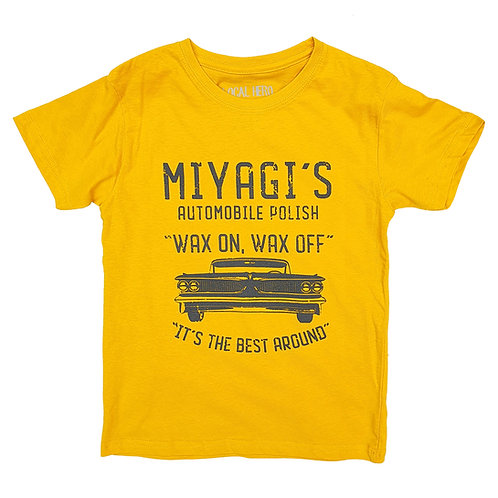 Karate Kid Inspired Miyagi's Automobile Polish Mustard Tee