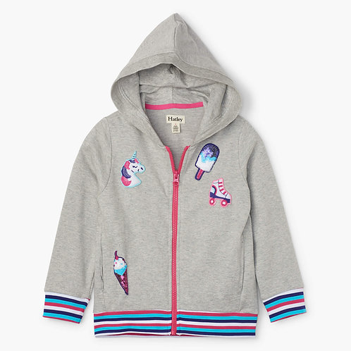 Hatley Girls Patches Hoodie