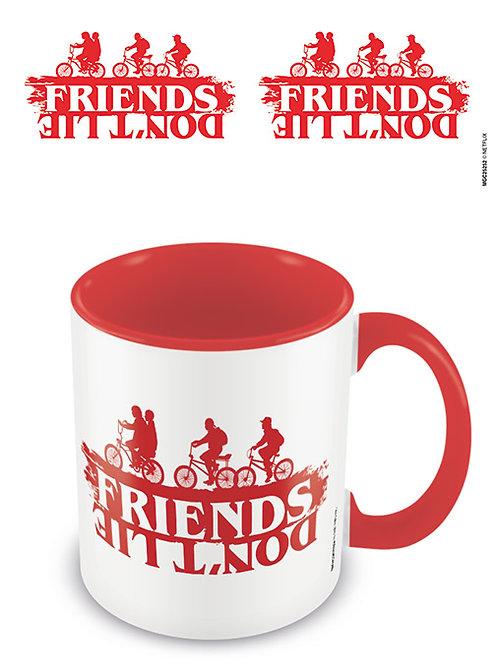Stranger Things Friends Don't Lie Red Coloured Inner Mug