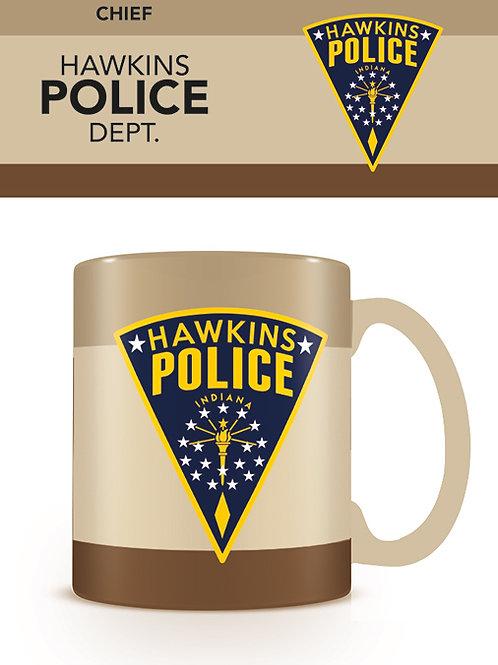 Stranger Things Hawkins Police Dept Coloured Inner Mug