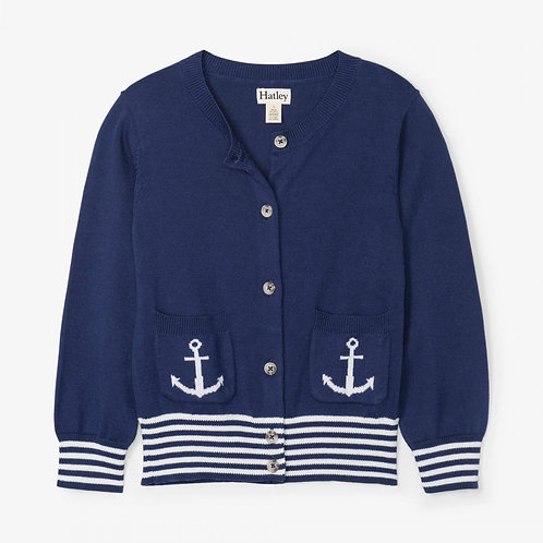 Hatley Nautical Navy Cardigan