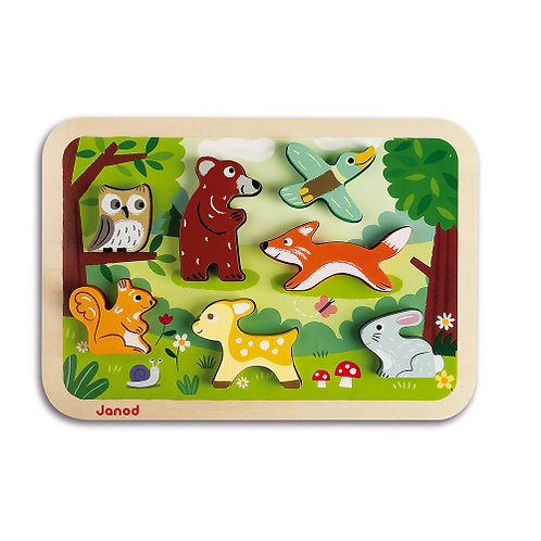 Wooden Forest Chunky Puzzle