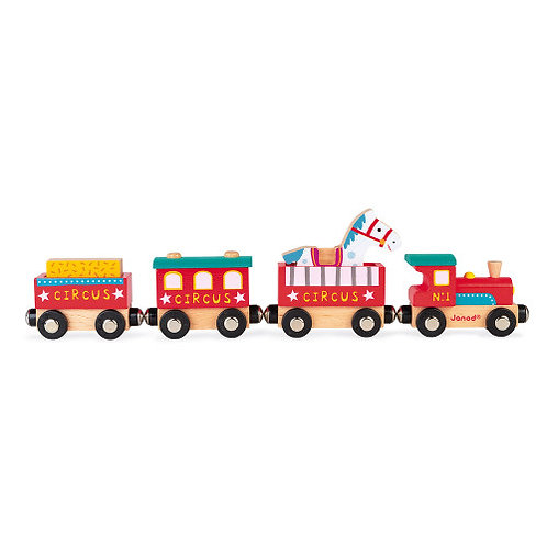 Janod Wooden Circus Train Set