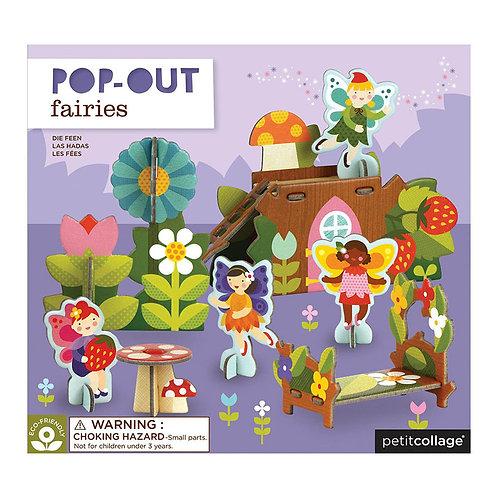 Petit Collage Pop-Out Fairies Play Set