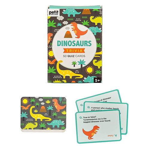 Petit Collage Dinosaurs Trivia Quiz Cards