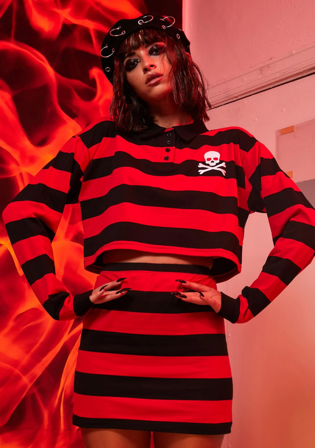 Anarchy Academy Striped Skirt Set.png