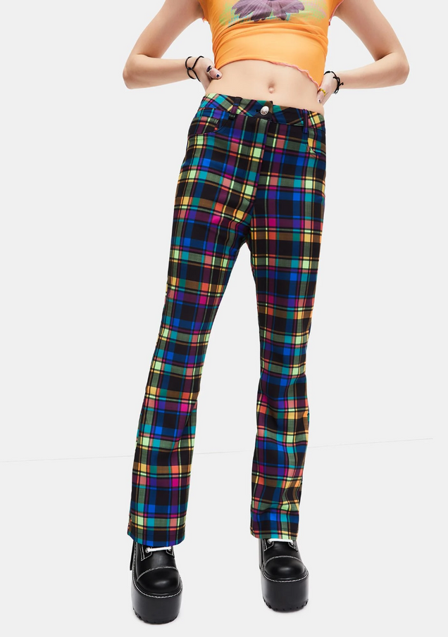 Into The Groove Plaid Pants
