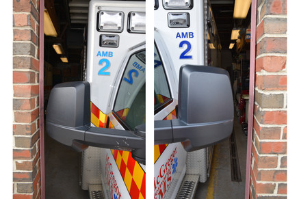 2.5 inch clearance when backing into bays
