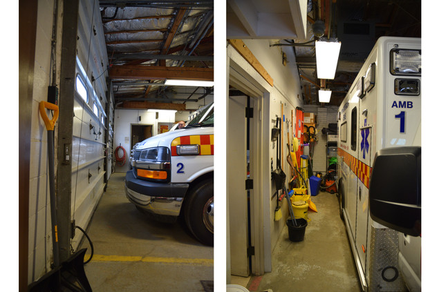 Limited storage space and safety concerns from small ambulance bays
