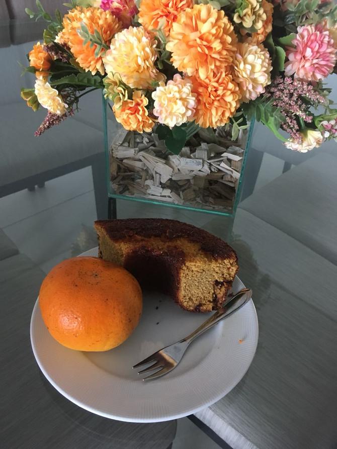 Foto e Bolo de Mexerica da Solange