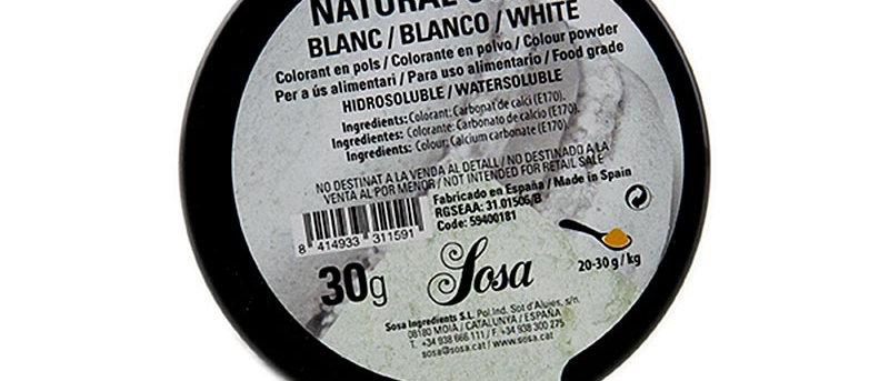 צבע מאכל לבן טבעי 30 גרם SOSA