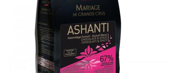 "ASHANTI (Fauchon Paris) 67% שוקולד מריר - 1 ק""ג"