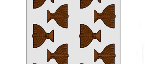 תבנית ליציקת שוקולד - חנוכיות בינוני