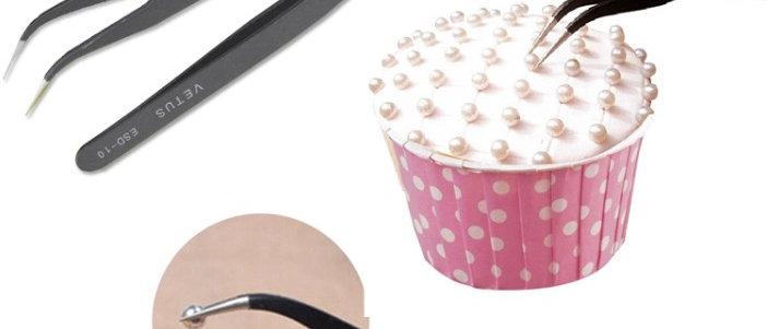 פינצטה לעיצוב עוגות - עם זווית