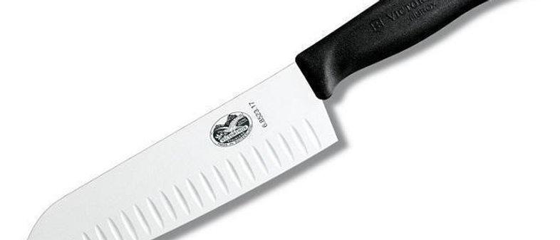 """סכין רב תכליתי 17 ס""""מ - עם חריצים למניעת הדבקות"""