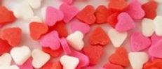 סוכריות לבבות ורוד אדום לבן