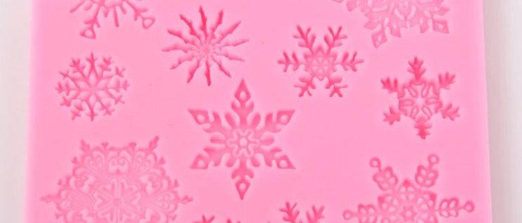 סיליקון לחיצה - קריסמס פתיתי שלג