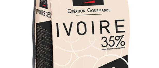 "IVOIRE 35% שוקולד לבן - 1 ק""ג"