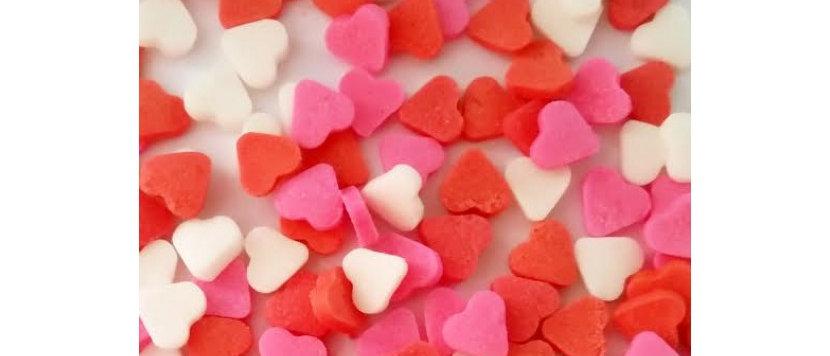 סוכריות לב - צבעים טבעיים