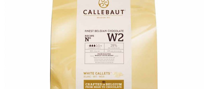"""שוקולד לבן 28%  2.5 ק""""ג  Callebaut"""