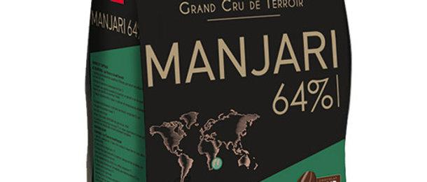 "MANJARI 64% שוקולד מריר - 1 ק""ג"